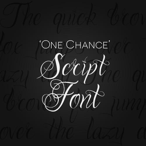 One Chance Script Font