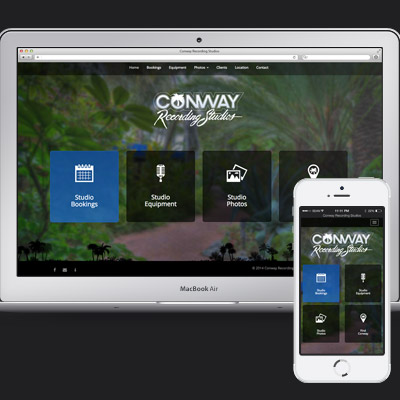 Conway Recording Studios Website Design
