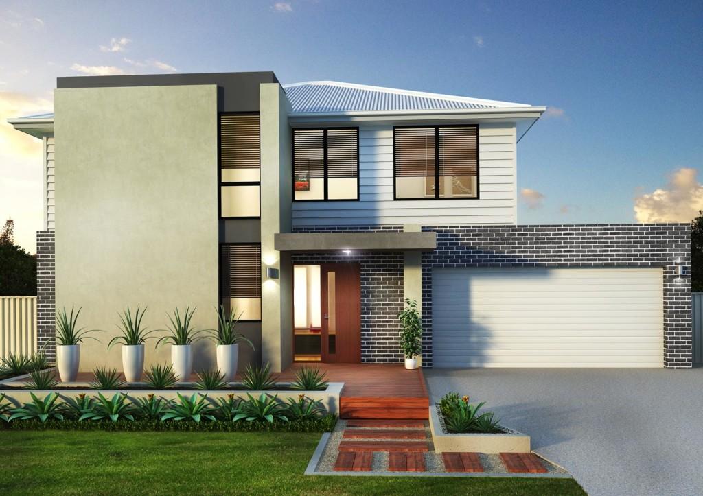 3D Brick 2 Storey House Visualisation