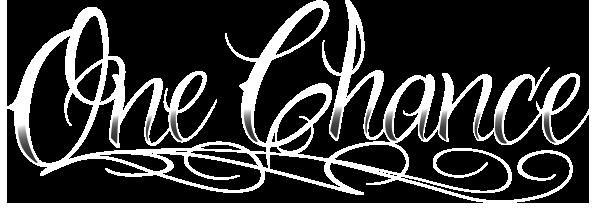 One Chance Logo White