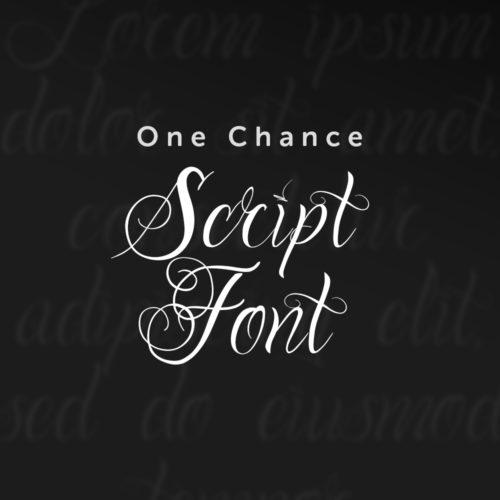 One Chance Script Font Feature