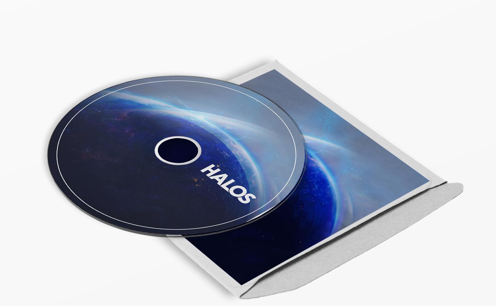 Halos Artwork Disc Mock Up
