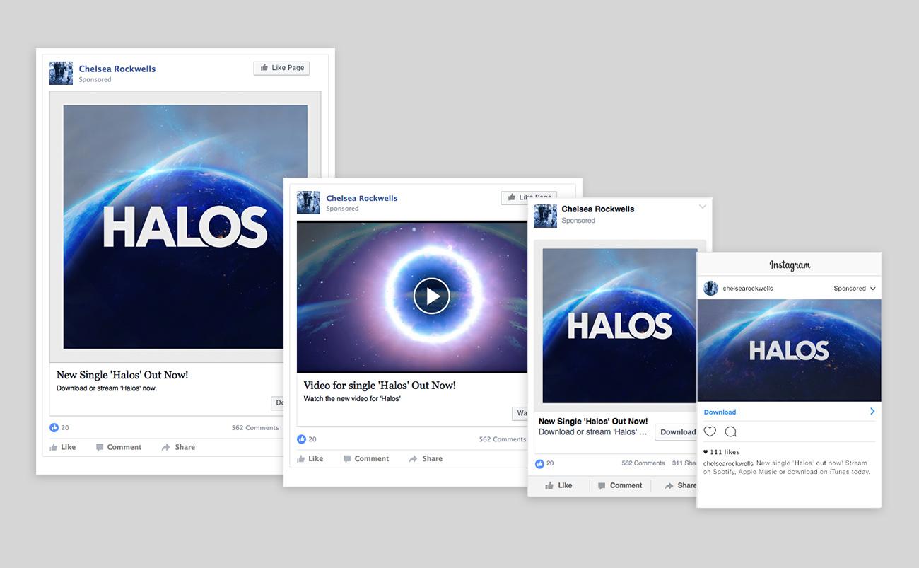 Halos Artwork Social Media Examples