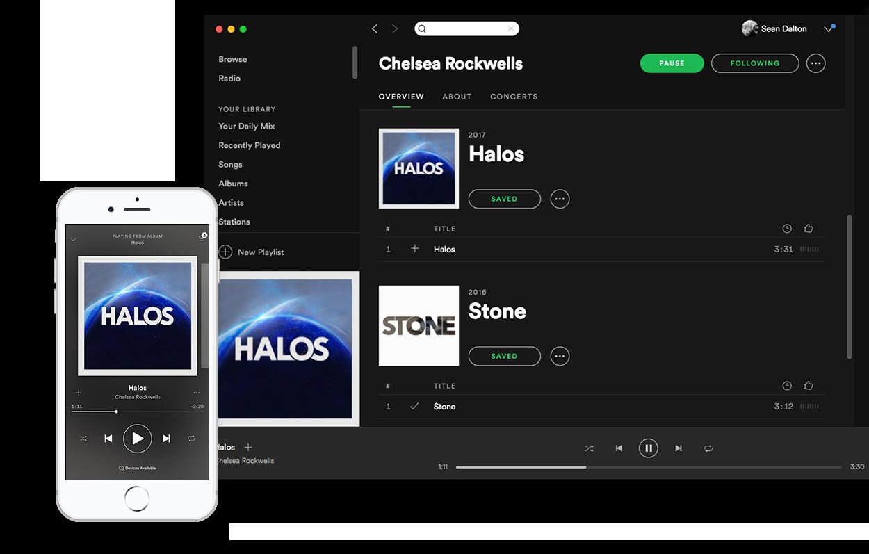 Halos Spotify Sean Dalton Portfolio