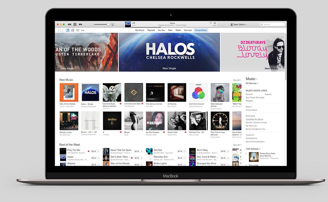 Halos Apple Store iTunes Sean Dalton Portfolio
