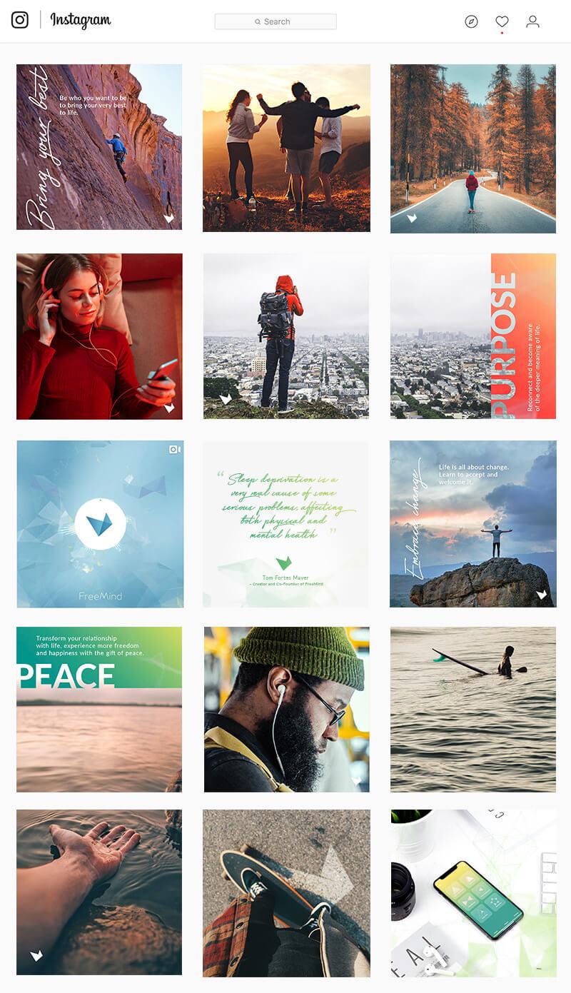 FreeMind Instagram Layout Feed