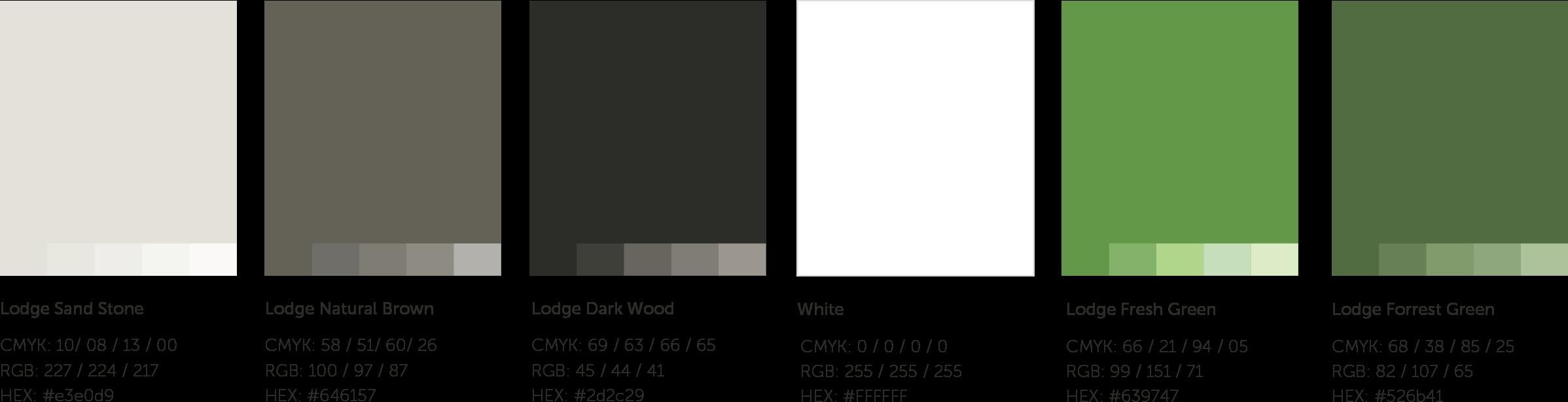 The Lodge Logo Development Colour Palette by Sean Dalton
