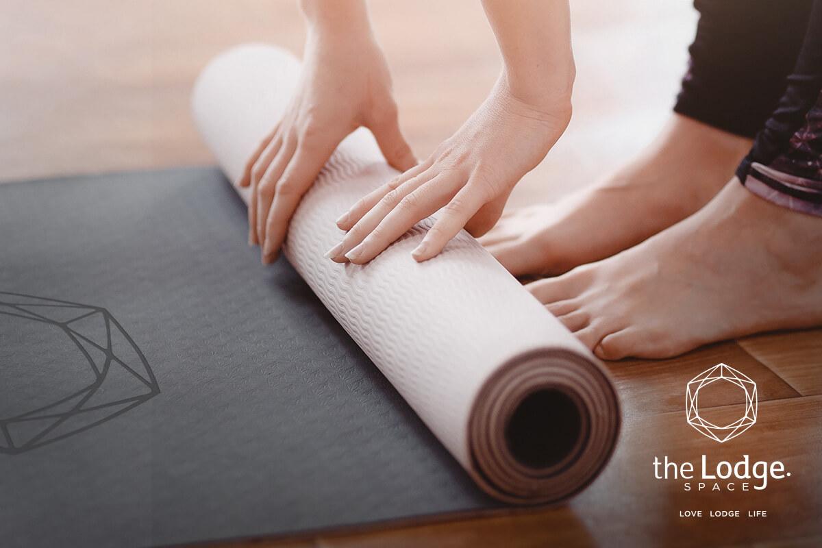 The Lodge Yoga Matt Branding Mockup